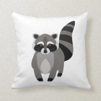 Raccoon Rascal Throw Pillow