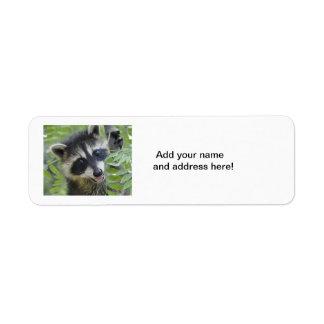 Raccoon Return Address Labels