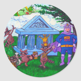 Raccoon Robbery Classic Round Sticker