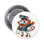 Raccoon Rock Star Tshirts and Gifts Pinback Button