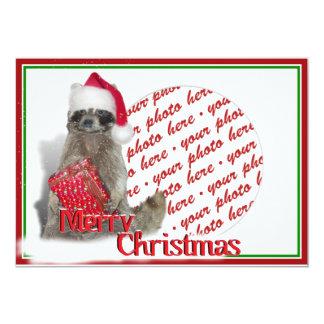 Raccoon Santa Personalized Invites