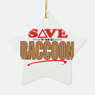 Raccoon Save Ceramic Ornament