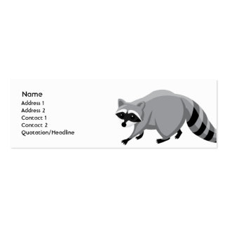 Raccoon - Skinny Double-Sided Mini Business Cards (Pack Of 20)
