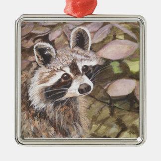 Raccoon  Square Ornament