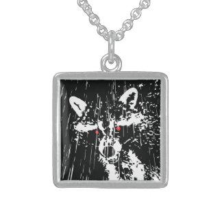 Raccoon Square Pendant Necklace