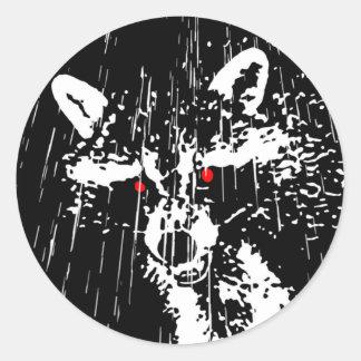 Raccoon Round Stickers