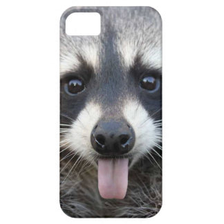 Raccoon sticking tongue out iPhone SE/5/5s case