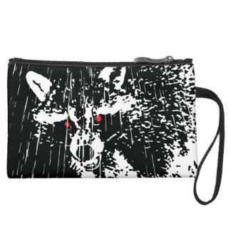 Raccoon Suede Wristlet