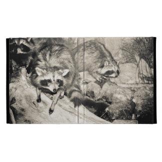 raccoon taxidermy iPad folio cover