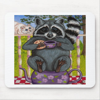 RACCOON Tea Guest Mousepad