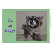 Raccoon Thank You Notecard