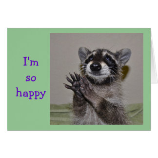 Raccoon Thank You Notecard