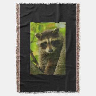 raccoon throw blanket