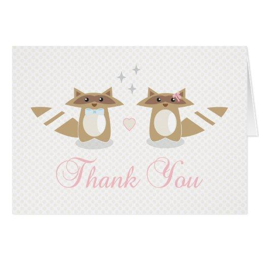 Raccoon Wedding Thank you card