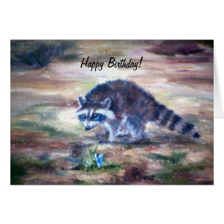 Raccoon What's That Birtday Card