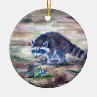 Raccoon What's That Ornament