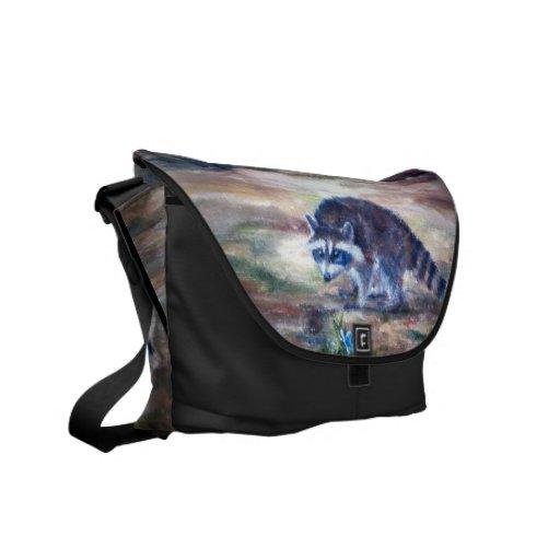 Raccoon What's That Rickshaw Messenger Bag