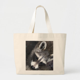 Raccoon  whimsy large tote bag