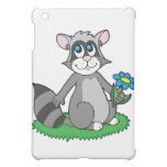 Raccoon with Flower Cover For The iPad Mini