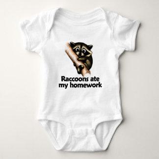 Raccoons ate my homework baby bodysuit