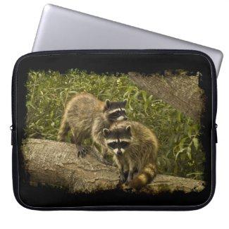 Raccoons Black Edge Laptop Computer Sleeve