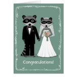 Raccoons Happily Ever After Congratulations Greeting Cards