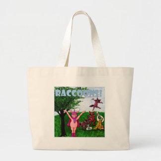 Raccoons! Large Tote Bag