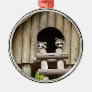 Raccoons Metal Ornament