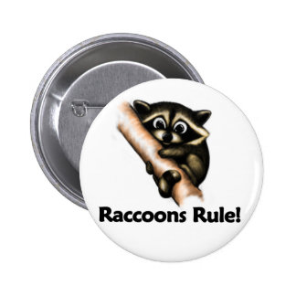 Raccoons Rule! Button