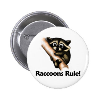 Raccoons Rule! Pinback Button