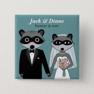 Raccoons Wedding Button
