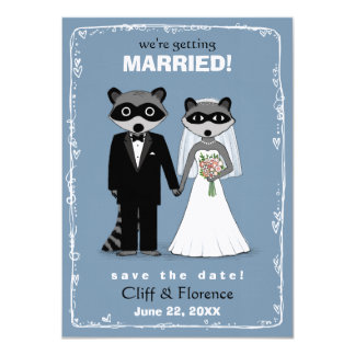 Raccoons Wedding Save the Date Card