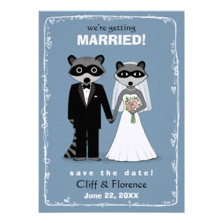 Raccoons Wedding Save the Date Announcements