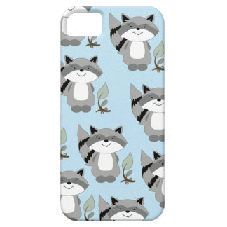 Raccoons Woodland iPhone 5 Casemate Case (Blue)