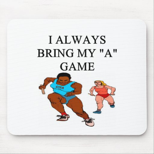 RACE4i love track and field running raing Mouse Pad