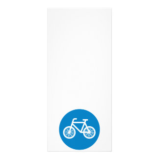 Race a bicycle rack card