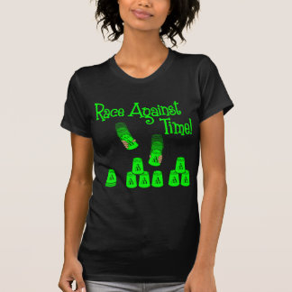 Race Against Time, neon green2 T-shirts