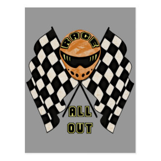 Race All Out Postcard