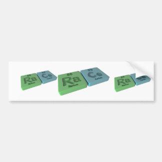Race as Ra Radium and Ce Cerium Bumper Sticker