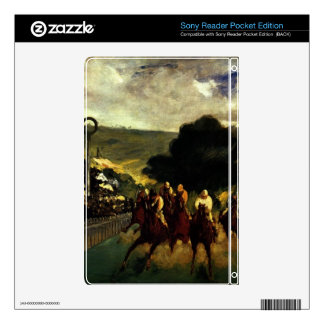 Race at Longchamp by Edouard Manet Skins For Sony Reader