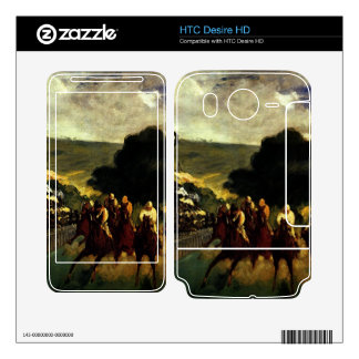 Race at Longchamp by Edouard Manet HTC Desire HD Skins