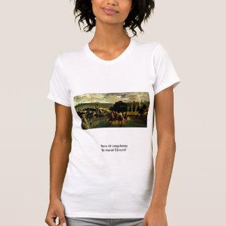 Race At Longchamp By Manet Edouard T-shirts