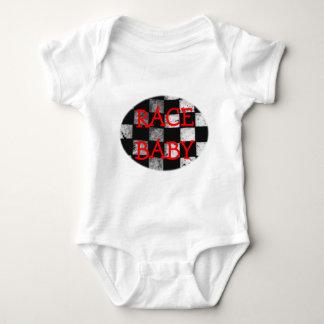Race Baby Checkered Flag Customizable Bodysuit