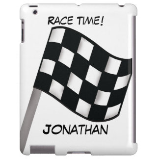 Race Black White Checkered Flag Name Personalized