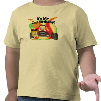 Race Car 2nd Birthday T-shirts and Gifts
