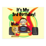 Race Car 3rd Birthday Tshirts and Gifts Postcard