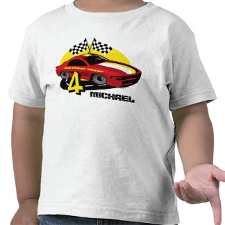 Race Car 4th Birthday Shirt