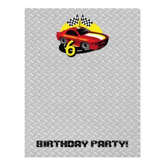 Race Car 6th Birthday Letterhead