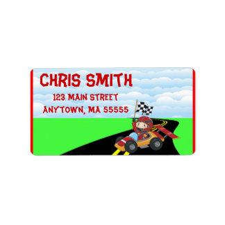 Race Car Address Labels