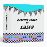 Race Car and Checker Flags Binder